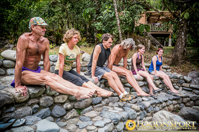 Dr. Douglas Graham teaching raw vegan fitness class