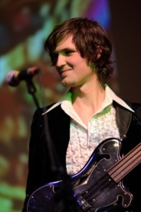 low fat raw bass guitarist Josh Fossgreen in concert