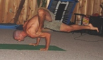 photo: Thomas Radtke doing yoga demo